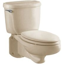 Glenwall™ Two-Piece Wall Mounted Elongated Toilet with Left Mounted Trip Lever, 1.6 gpf and Right Height Bowl