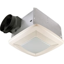 80 CFM 0.3 Sone Ceiling Mounted Energy Star Rated and HVI Certified Bath Fan with Light and Night Light from the QT Collection