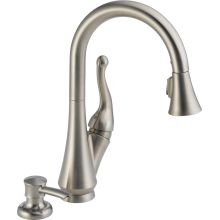 Talbott Pull-Down Kitchen Faucet with Magnetic Docking Spray Head, Soap/Lotion Dispenser, and Optional Base Plate - Includes Lifetime Warranty