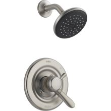 Lahara Monitor 17 Series Dual Function Pressure Balanced Shower Trim Package with Touch Clean Shower Head and Integrated Volume Control - Less Rough-In Valve