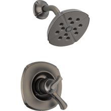Addison Monitor 17 Series Dual Function Pressure Balanced Shower Trim Package with H2Okinetic Shower Head and Integrated Volume Control - Less Rough-In Valve