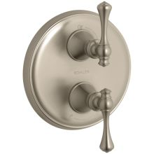 Revival Double Metal Lever Handle Thermostatic Valve Trim