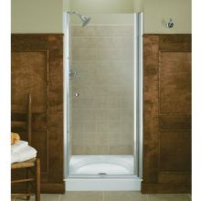 Frameless Pivot Shower Door - 33.75