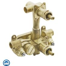 1/2 Inch Sweat (Copper-to-Copper) Moentrol Pressure Balancing Rough-In Valve and 3-Function Integrated Diverter (With Stops)