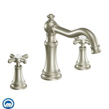 Deck Mounted Roman Tub Faucet Trim from the Weymouth Collection (Less Valve)