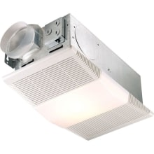 70 CFM 4 Sone Ceiling Mounted HVI Certified Bath Fan with Heater and Light