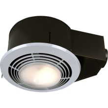 70 CFM 3.5 Sone Ceiling Mounted HVI Certified Bath Fan with Light, Heater and Night Light