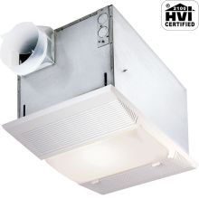 70 CFM 4 Sone Ceiling Mounted HVI Certified Bath Fan with Light and Night Light