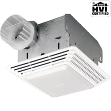 80 CFM 2.5 Sone Ceiling Mounted Energy Star Rated and HVI Certified Utility Fan with Light