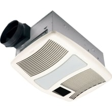 110 CFM 0.9 Sone Ceiling Mounted HVI Certified Bath Fan with Incandescent Lighting and Night Light from the QT Collection