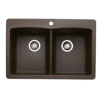 Blanco 440218 Cafe Brown Diamond Equal Double Basin Silgranit II ...