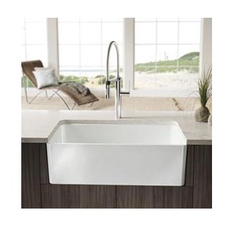 Blanco Apron Sink : Blanco 441694 White Cerana 30-inch Farmhouse Kitchen Sink Apron-Front ...