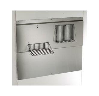 steel 30 stainless steel backsplash with food warming shelves