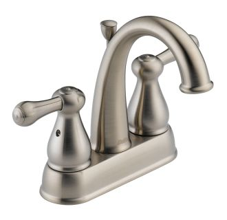Delta 2575LF-SS Double Handle Centerset Bathroom Faucet
