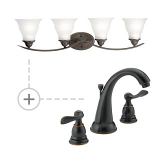 Delta Oil Rubbed Bronze Bathroom Faucet B3596LF P3193 Oil Rubbed Bronze In Oil Rubbed Bronze By