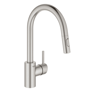 Grohe 31479dc1 Supersteel Concetto 1 75 Gpm Single Hole Pull Down Bar Faucet Faucet Com