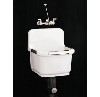 Sink Blank : Kohler K-6652-0 White Sudbury 22 Inch Utility Sink with Blank Back