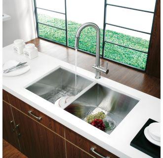 Vigo VG14008 Kitchen Sink and VG02008 Faucet Combination