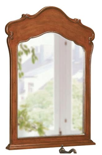 Belle Foret BF80004 Dark Cherry Traditional / Classic 38-Inch Framed Vanity Mirror in Dark Cherry 80004