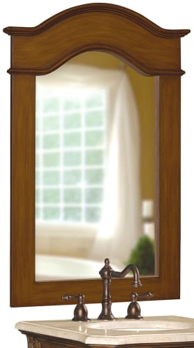 Belle Foret BF80070 Aged Walnut Traditional / Classic 36-Inch Framed Vanity Mirror in Aged Walnut 80070