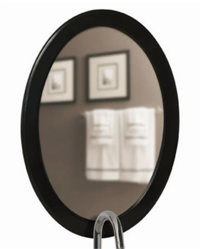 Belle Foret BF80008 Walnut Traditional / Classic 29-Inch Oval Framed Vanity Mirror in Walnut BF80008