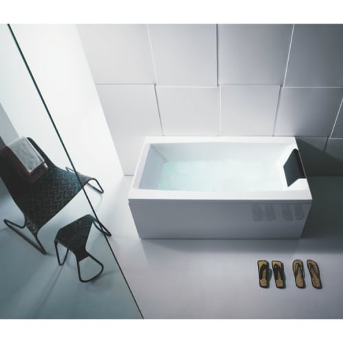 Glass By Nameeks Pp000a03 White Eden 71 Eden Corner Soaking Tub With Drain Adjustable Feet Kit And 3 Panels Pp000a03 image