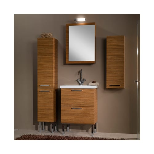 Iotti by Nameeks Set L14 GRAY OAK Gray Oak Luna Luna Bathroom Vanity Set with Medicine Cabinet, Sink and Small Cabinet Set L14