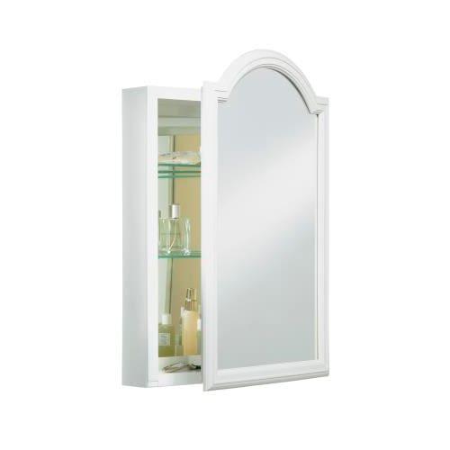 "Kohler K-CB-CLW2030DAW White Devonshire Devonshire 20"" x 29.5"" White Enameled Aluminum Single Door Medicine Cabinet K-CB-CLW2030DAW"