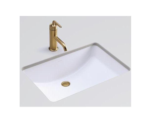 Kohler Ladena Sink : Kohler K-2215-HW1 Honed White Ladena Ladena 23