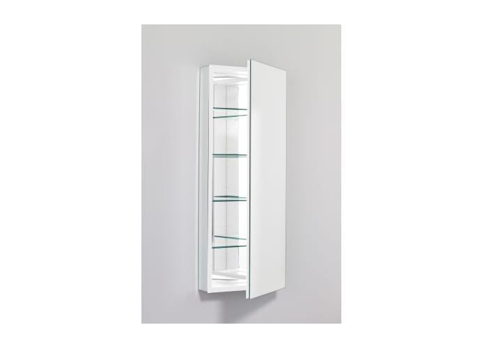 "Robern PLM1640W White PL Series 16"" Mirrored Bathroom Cabinet with Beveled Door from the PL Series PLM1640W"