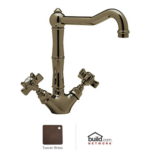 Rohl A1469XTCB-2 Tuscan Brass Country Kitchen Country Kitchen Low Lead Kitchen Faucet with Five Spoke Handles                                     A1469X-2