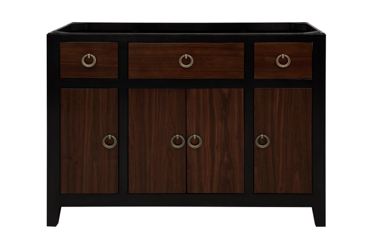 Sagehill Designs UW4821D Walnut Urban Walnut 48 Vanity Cabinet with 4 Doors and 3 Drawers from the Urban Walnut Collection UW4821D