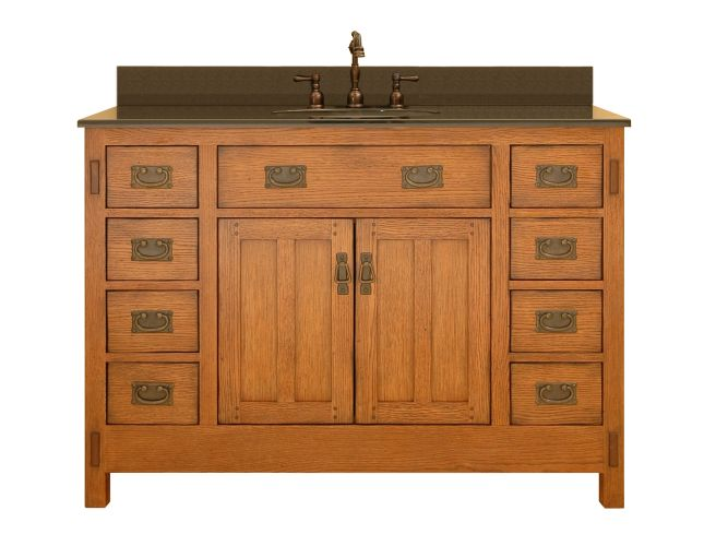 mission style bathroom cabinets craftsman 48 vanity can