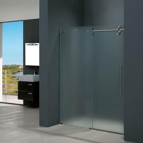 Frameless Glass Vigo VG6041STMT6074R Frameless 60 Shower Door Glass Stainles