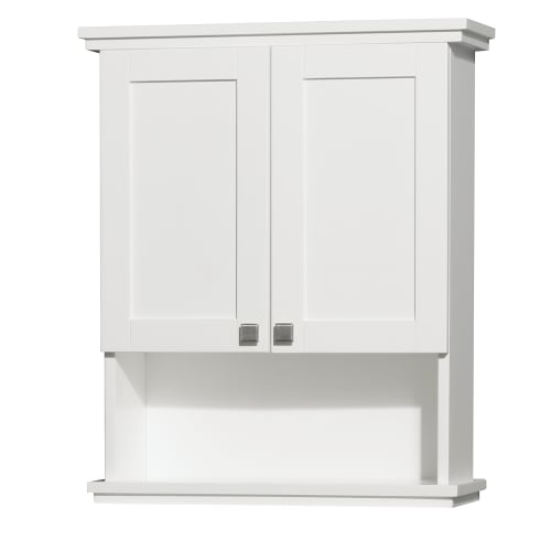 "Wyndham Collection WC-CG8000-WC-WHT White Acclaim 25"" Wall Mounted Bathroom Cabinet from the Acclaim Collection WCCG8000WC"