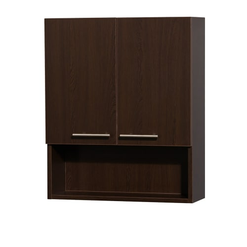 "Wyndham Collection WCRYV207ES Espresso Amare 29"" Wall Mounted Bathroom Cabinet from the Amare Collection WCRYV207"