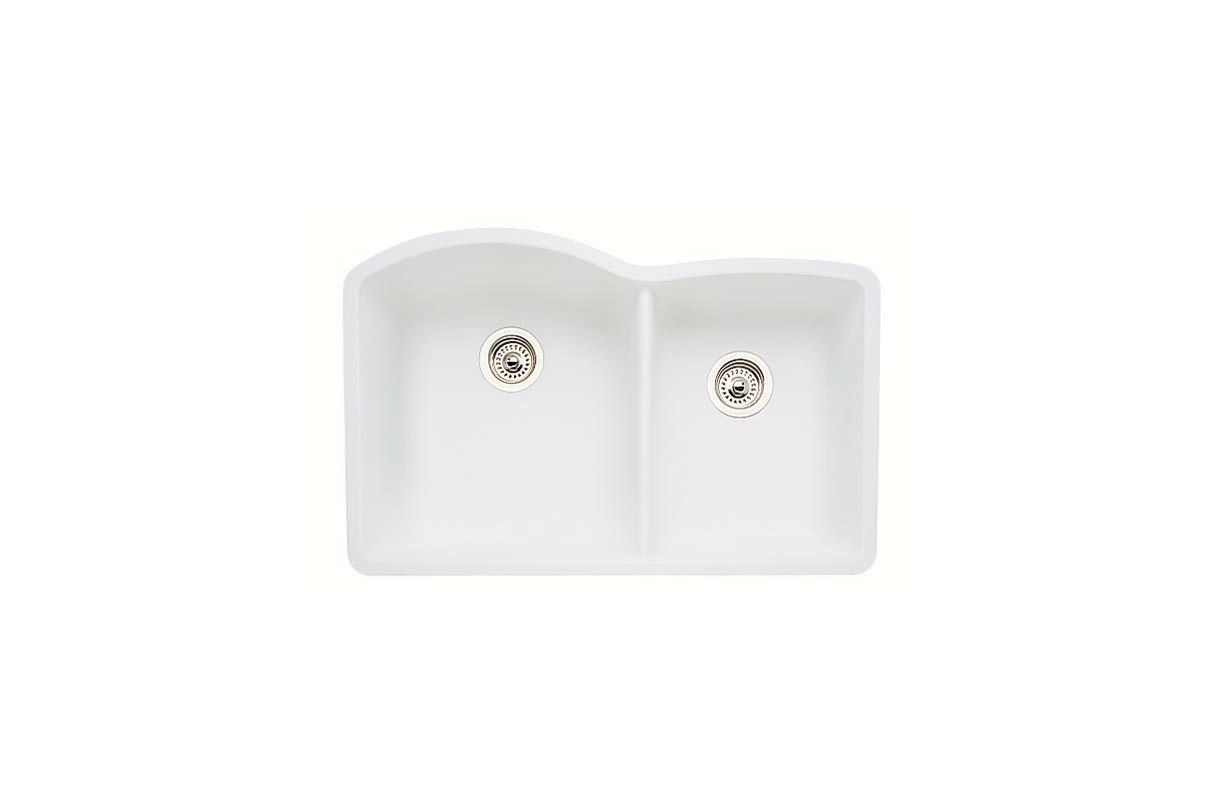 White Silgranit Sink : White Diamond 32