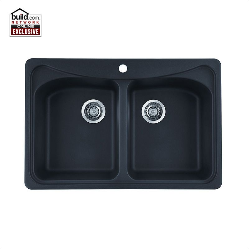Blanco 446002 Anthracite Equal Double Basin Silgranit Kitchen Sink in ...