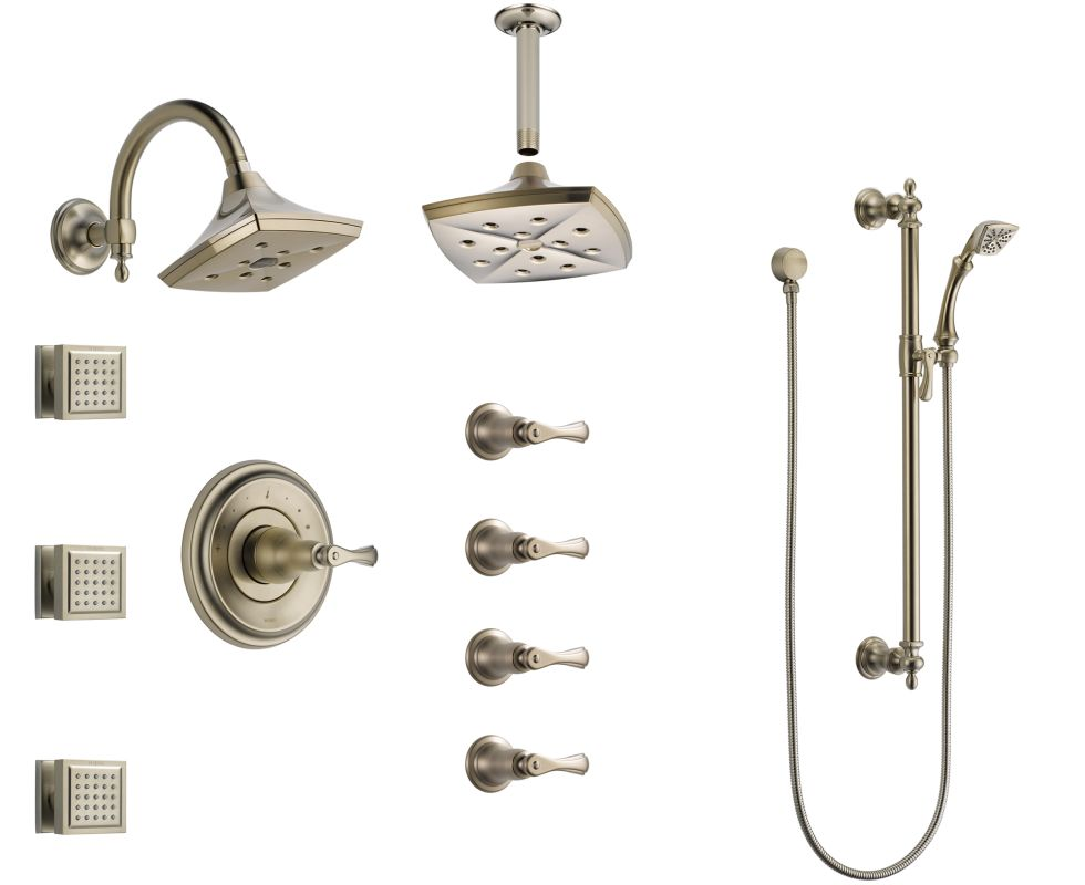 Faucet Com Bss Charlotte T66t04 Bn In Brilliance Brushed