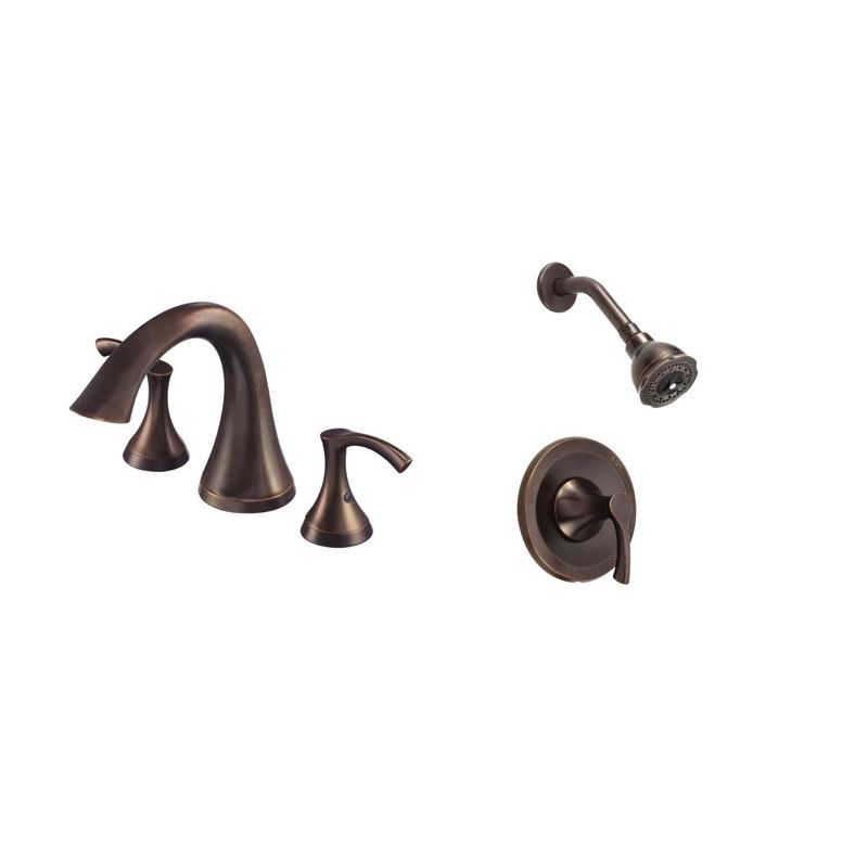 com antioch faucet and shower bundle 1 br in tumbled bronze by danze