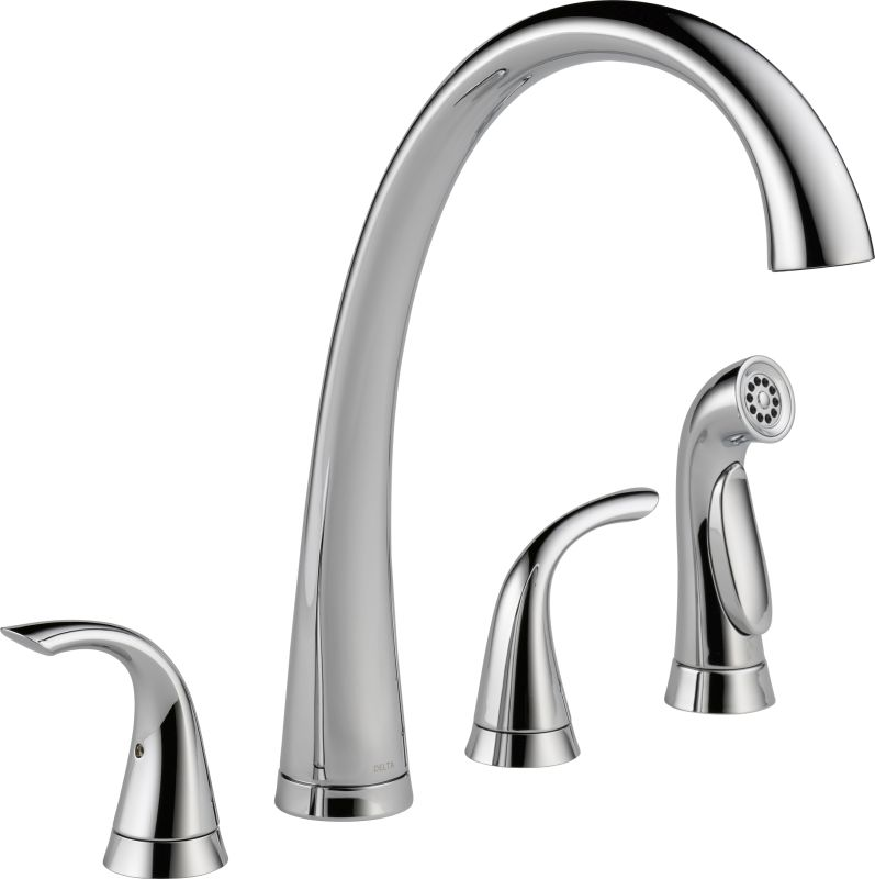 delta kitchen faucets warranty faucet 2480 dst in chrome by delta 17203