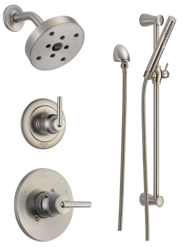 Dss Trinsic 1401ss In Brilliance Stainless By Delta