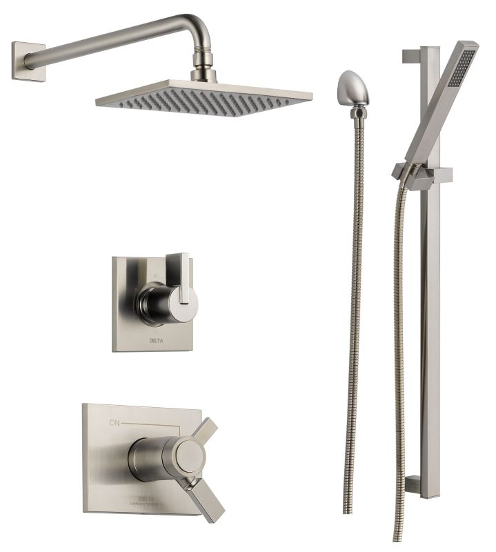 Faucet Com Dss Vero 17t01ss In Brilliance Stainless By Delta