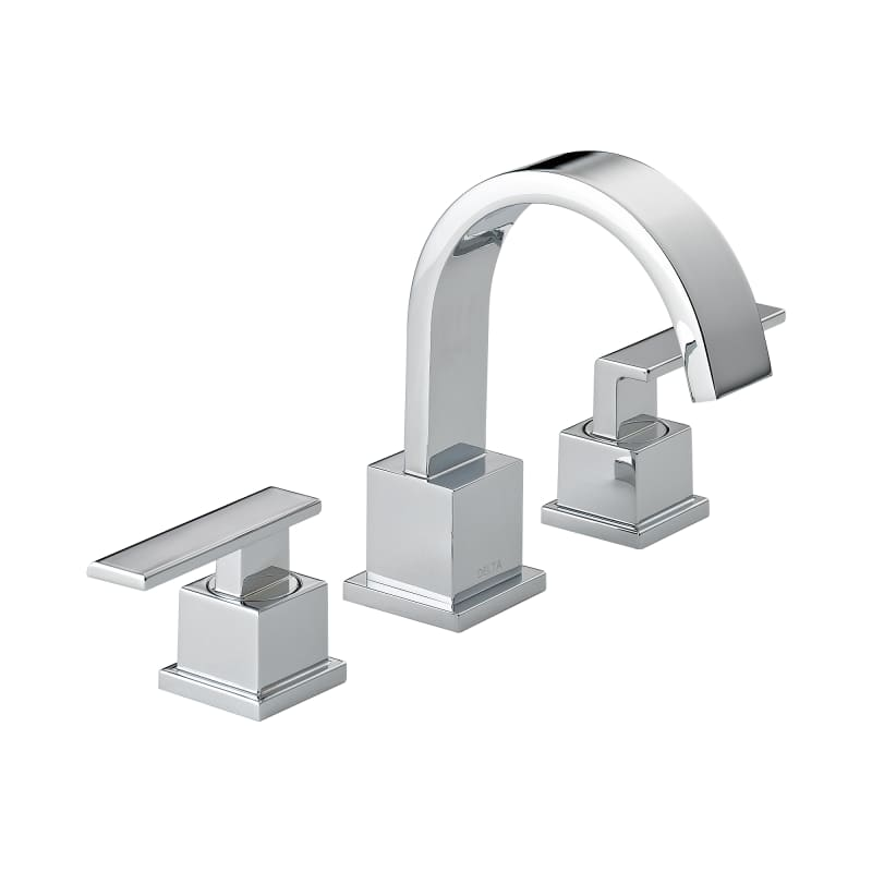 Delta 3553LF Chrome Vero Widespread Bathroom Faucet - Free Drain ...