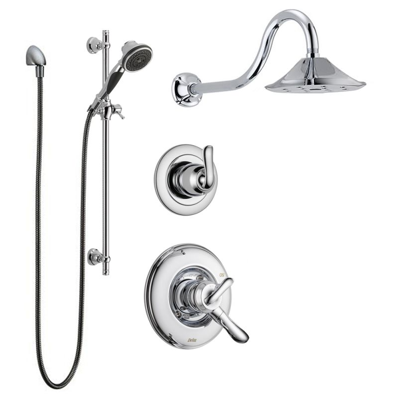 Faucet Com Linden Monitor Shower Package Ch In Chrome By