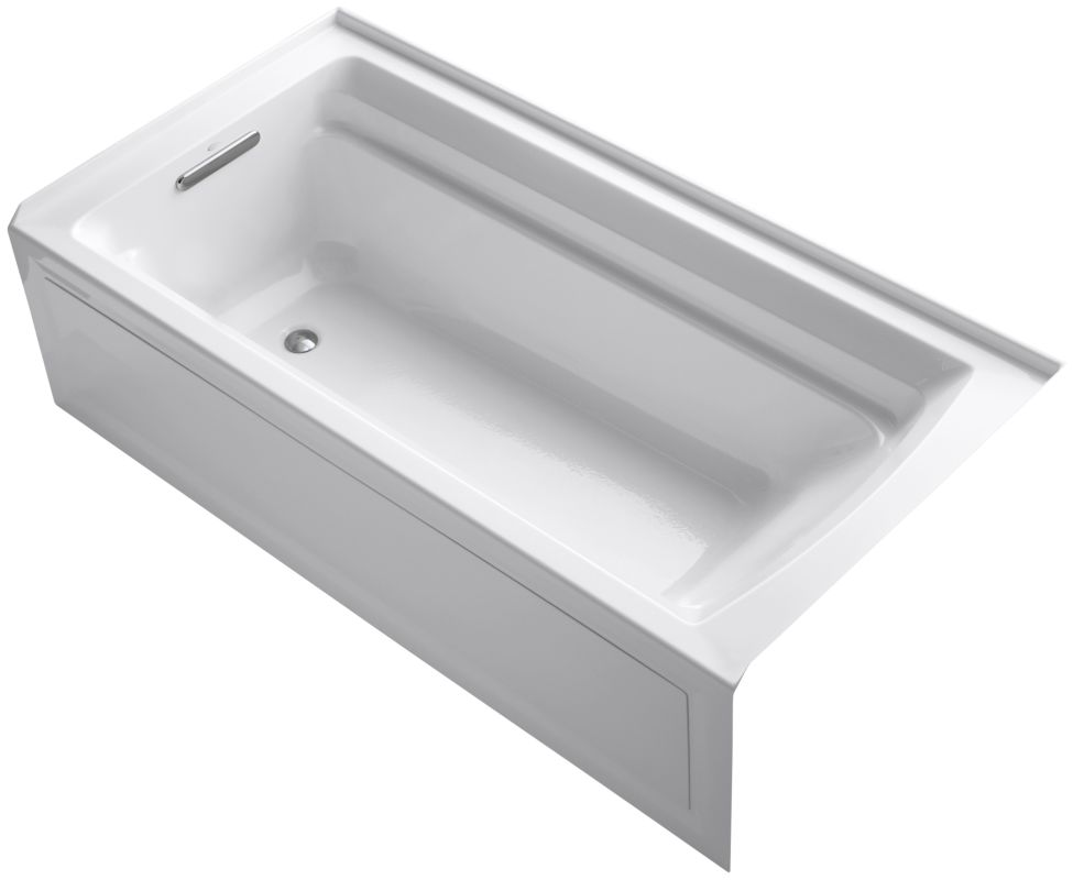 Kohler k1125la white kohler k1125la archer 72 alcove for Deep soaking tub alcove