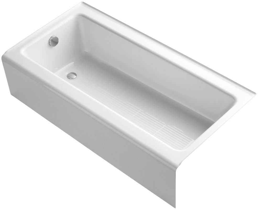 Kohler k837 white kohler k837 bellwether 60 alcove soaking tub for Deep alcove bathtubs