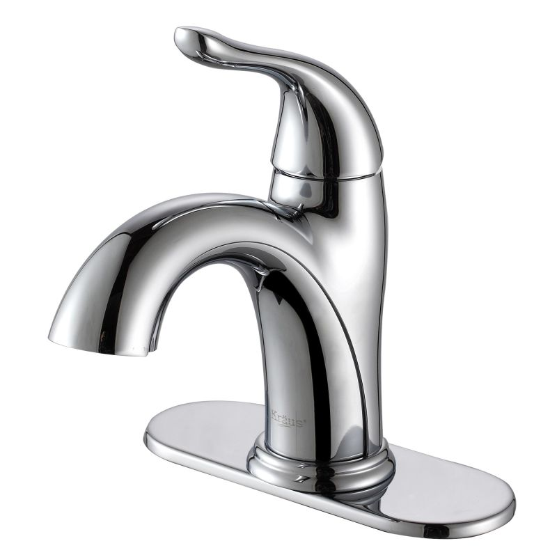 Kraus FUS-1011CH Chrome Arcus Single Hole Bathroom Faucet