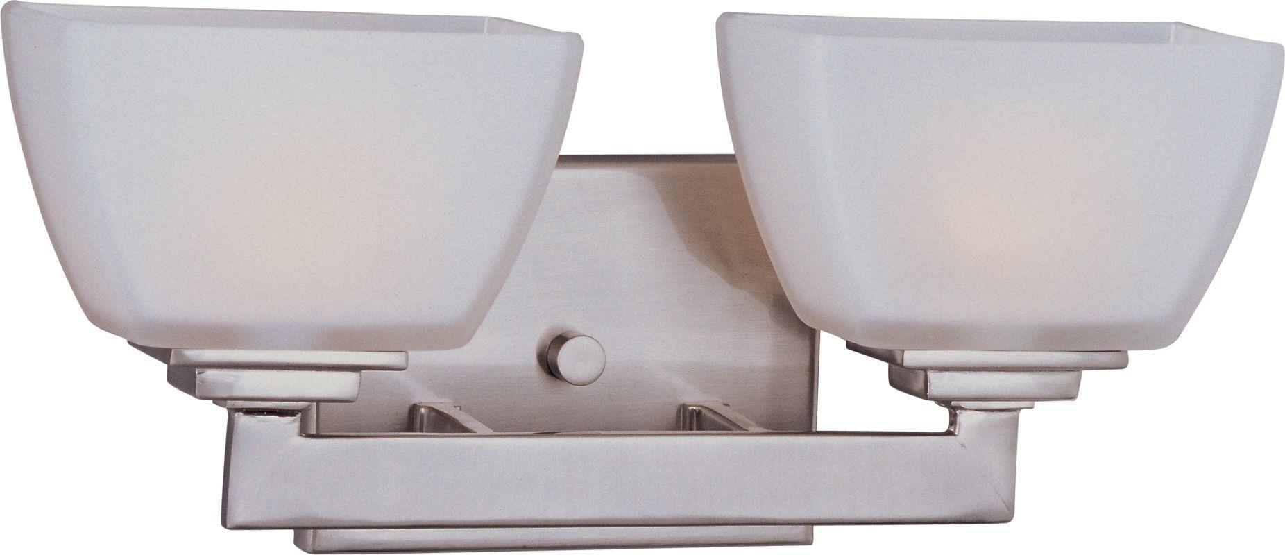 Maxim 9032 Satin Nickel / Satin White Glass  Maxim 9032 Angle 13