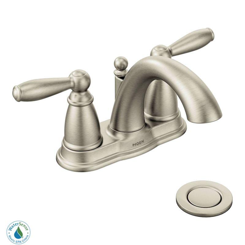 faucet com 6610bn in brushed nickel by moen